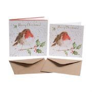 Wrendale The Jolly Robin Box of 8 Christmas Cards